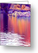 Watson Lake Greeting Cards - Early Light Greeting Card by Robert Hooper
