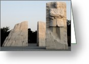 Martin Luther King Greeting Cards - Early Morning at the Martin Luther King Jr Memorial - Washington DC Greeting Card by Brendan Reals