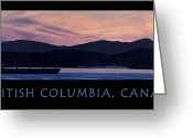 Pink And Purple Greeting Cards - Early Morning B.C. Poster Greeting Card by Neil Woodward