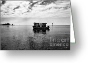 Scott Greeting Cards - Early Morning Crabber Greeting Card by Scott Pellegrin