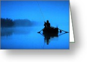 Colette Greeting Cards - Early Morning Fishing  Greeting Card by Colette Hera  Guggenheim