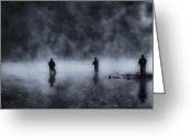 Tamyra Ayles Greeting Cards - Early Morning Fishing Greeting Card by Tamyra Ayles