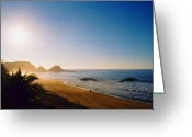 Ocean Beach Greeting Cards - Early Morning in Zipolite 2 Greeting Card by Lyle Crump