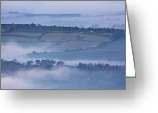 New Britain Greeting Cards - Early Morning Mist On Hills In South Greeting Card by Nigel Hicks