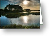 Acrylic Print Greeting Cards - Early Morning On Beach Drive II Greeting Card by Steven Ainsworth