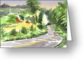 Pilot Knob Greeting Cards - Early Morning Out Route JJ Greeting Card by Kip DeVore