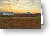 Mountains Mixed Media Greeting Cards - Early Morning Sunrise in the White Mountains New Hampshire Greeting Card by Colleen Crowley