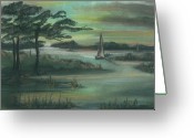 Early Pastels Greeting Cards - Early Morning Sunrise Greeting Card by Shelby Kube