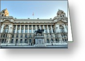Trafalgar Greeting Cards - Early Morning Whitehall Greeting Card by Deborah Smolinske