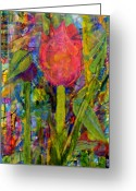 Artists Mixed Media Greeting Cards - Early Riser Greeting Card by Jerry Hanks