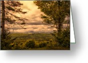 Landscape Greeting Cards - Early Spring Rain Greeting Card by Bob Orsillo