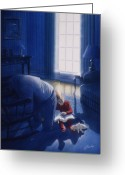 Devotion Greeting Cards - Early Will I Seek Thee Greeting Card by Cliff Hawley