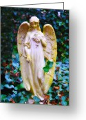 Angel Statue Greeting Cards - Earth Angel Greeting Card by Bill Cannon