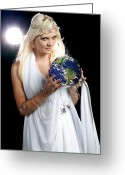 Cindy Greeting Cards - Earth Angel Greeting Card by Cindy Singleton