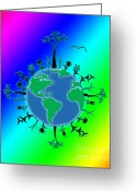 Linda D Seacord Greeting Cards - Earth Day Brillance Greeting Card by Linda Seacord