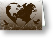 Celbration Greeting Cards - Earth Day Gaia Celebration digital art 2 Greeting Card by Georgeta  Blanaru