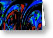 Expressionism Earth Greeting Cards - Earth Destruction Greeting Card by Stefan Kuhn