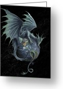 Planet Greeting Cards - Earth Dragon Greeting Card by Rob Carlos
