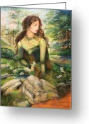 Woods Pastels Greeting Cards - Earth Greeting Card by Gin Lammert