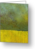 Grungy Greeting Cards - Earth Study Two Greeting Card by Michelle Calkins