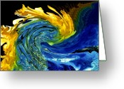 Colorful Photography Greeting Cards - Earth Wind and Fire Greeting Card by Karen M Scovill