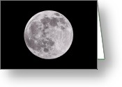 Full Moon Greeting Cards - Earths Moon Greeting Card by Steve Gadomski