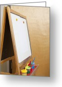 Easel Greeting Cards - Easel in Classroom Greeting Card by Shannon Fagan