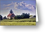 Kevin Sherf Greeting Cards - East Point Light House Greeting Card by Kevin  Sherf