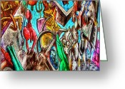 Strips Greeting Cards - East Side Gallery Greeting Card by Joan Carroll