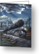 Central Painting Greeting Cards - Eastbound Twentieth Century Limited Greeting Card by David Mittner