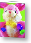 Adorable Bunny Greeting Cards - Easter Bunny 2 Greeting Card by Steve Ohlsen