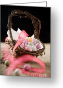 Dark Brown Eggs Greeting Cards - Easter candy Greeting Card by Kati Molin