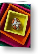 Concepts Greeting Cards - Easter Egg In Box Greeting Card by Garry Gay