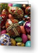 Pile Greeting Cards - Easter Eggs Greeting Card by Garry Gay