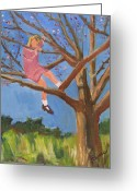 Tom Boy Greeting Cards - Easter in the Apple Tree Greeting Card by Betty Pieper