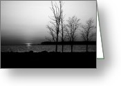 Scenic Byways Greeting Cards - Eastern Shore Sunset Greeting Card by Skip Willits