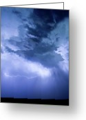 Lightning Bolt Pictures Greeting Cards - Eastern Sky Greeting Card by James Bo Insogna