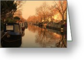 Venice Waterway Greeting Cards - Easy afternoon Greeting Card by Jasna Buncic