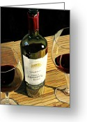 Wine Bottle Prints Greeting Cards - Easy Living Greeting Card by Brien Cole
