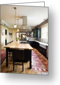 Wood Floors Greeting Cards - Eat-in Kitchen Greeting Card by Andersen Ross
