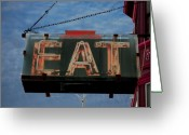 Hunger Greeting Cards - Eat Greeting Card by Jame Hayes