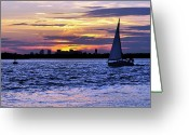 Hull Ma Greeting Cards - Eat My Dusk Greeting Card by Joanne Brown
