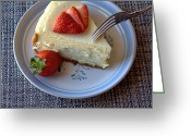 Lynnette Johns Greeting Cards - Eating Dessert Greeting Card by Lynnette Johns
