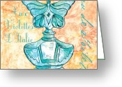 Blossom Painting Greeting Cards - Eau de Toilette Greeting Card by Debbie DeWitt