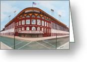 Brooklyn Dodgers Stadium Greeting Cards - Ebbets Field Greeting Card by Paul Cubeta