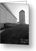 Round Barn Greeting Cards - Eble Park Silo Greeting Card by Jan Faul