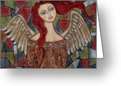 Angel Pastels Greeting Cards - Ecanus Greeting Card by Rain Ririn