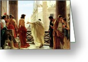 Poster Greeting Cards - Ecce Homo Greeting Card by Antonio Ciseri