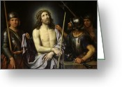 Jesus Painting Greeting Cards - Ecce Homo  Greeting Card by Pierre Mignard