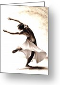 Bare Legs Greeting Cards - Eclectic Dancer Greeting Card by Richard Young